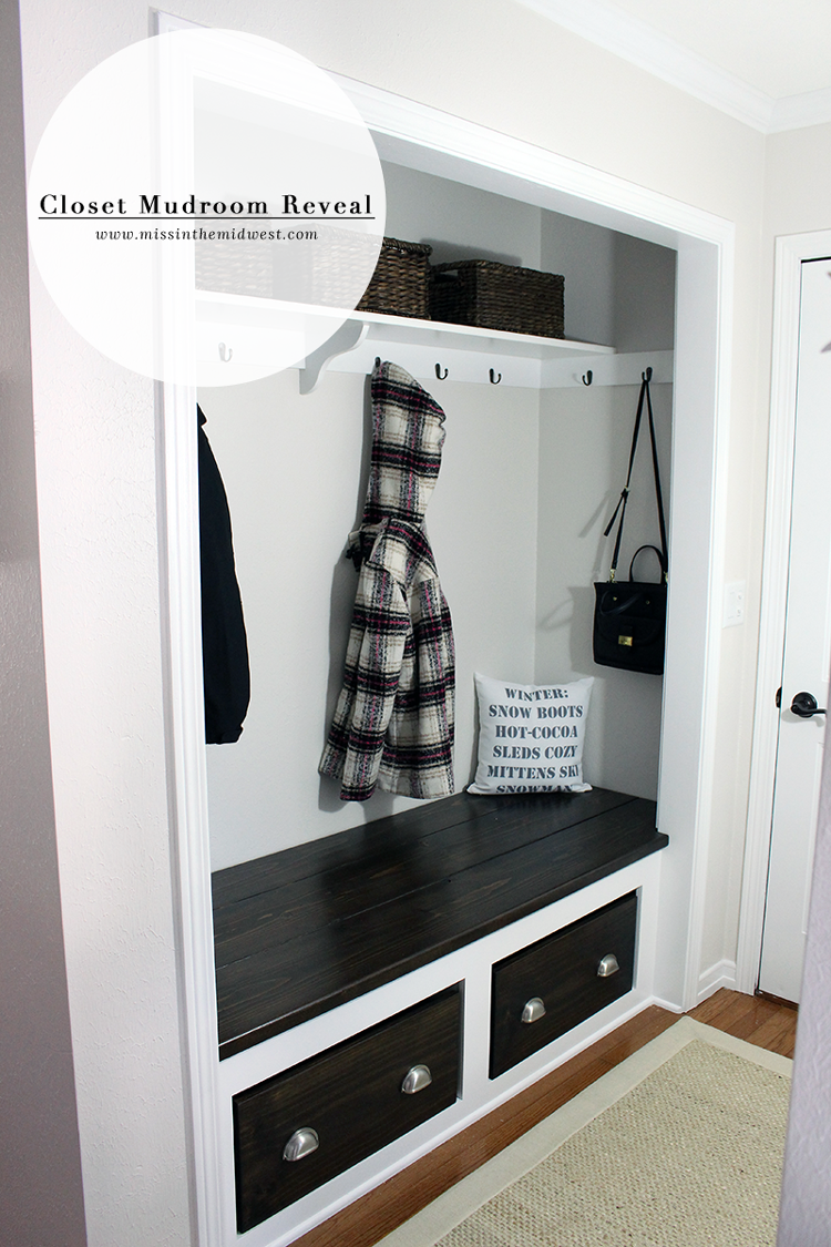 closet mudroom reveal