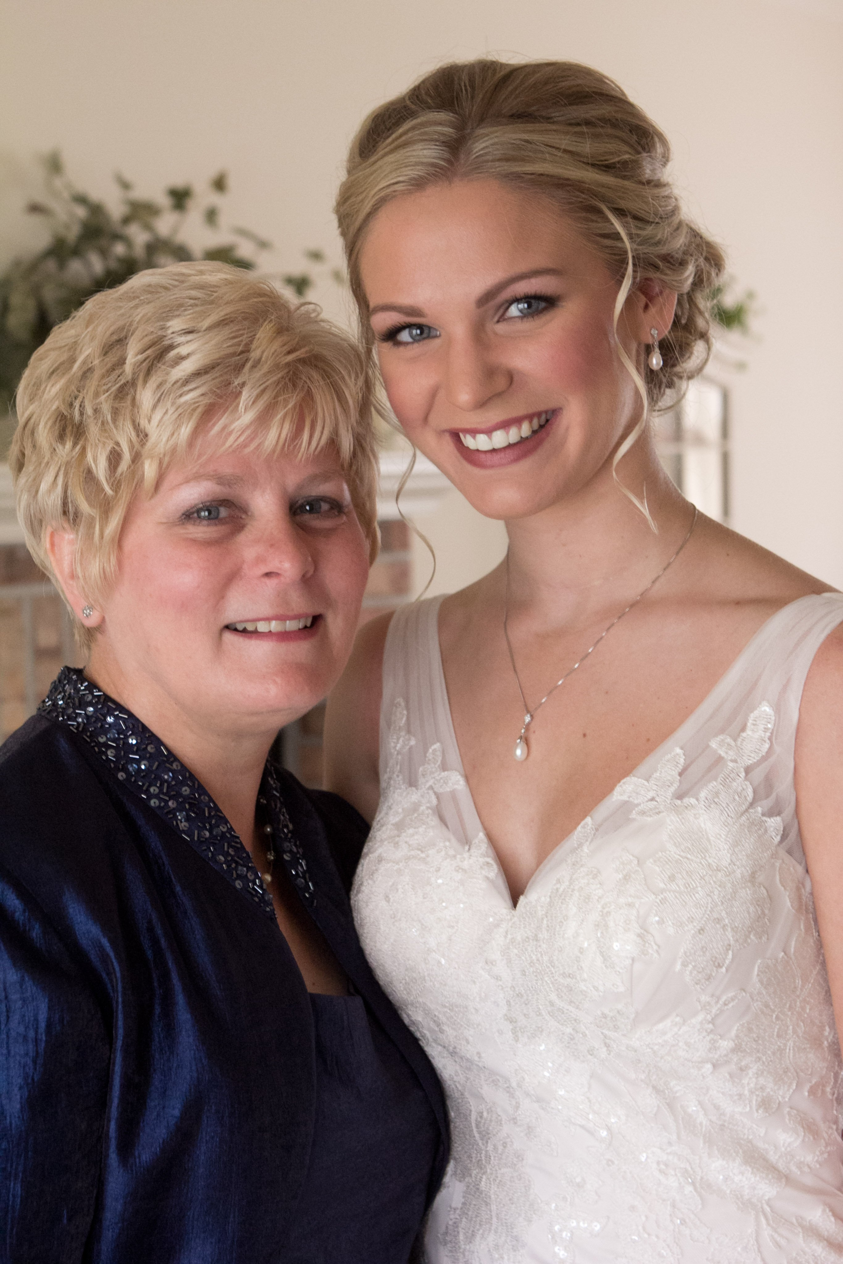 mother daughter wedding portrait