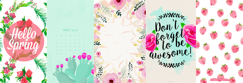 five free iphone wallpapers for spring