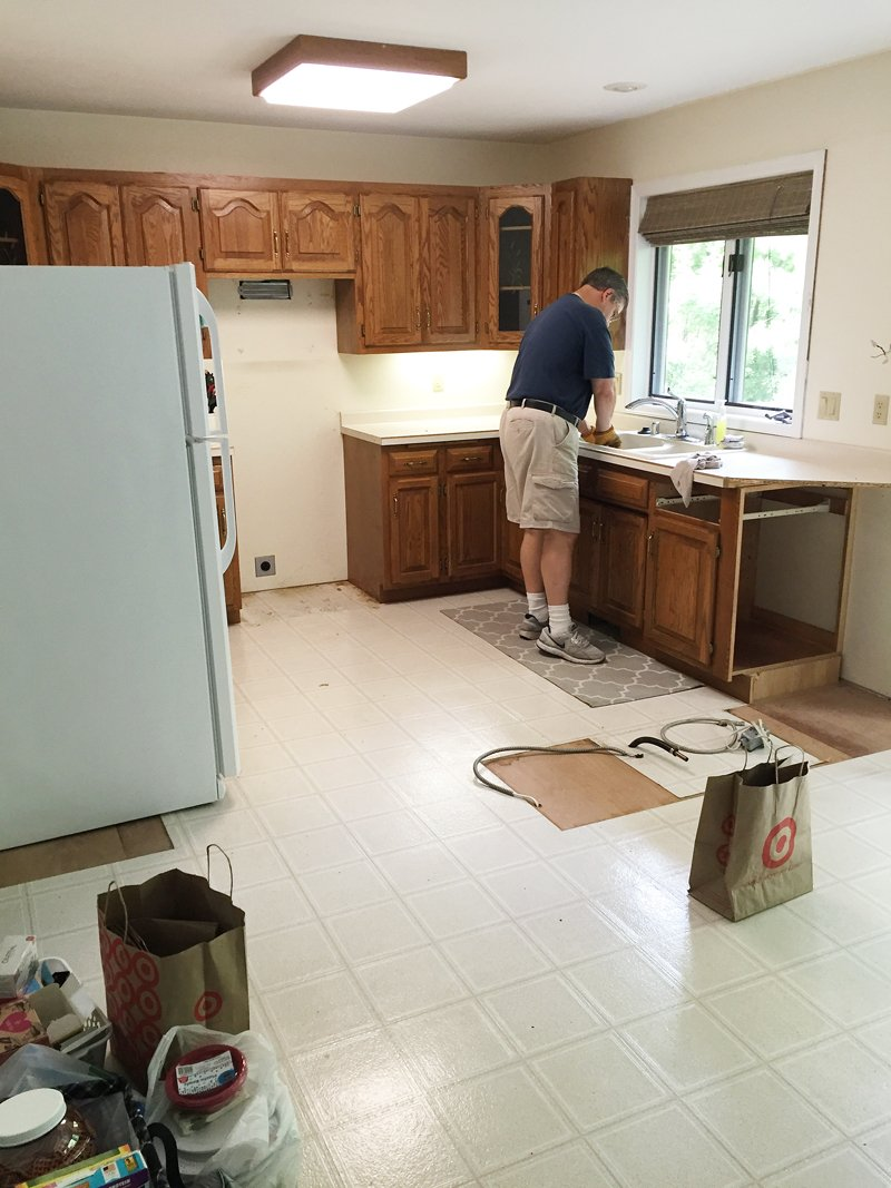 Kitchen Renovation Demo Day