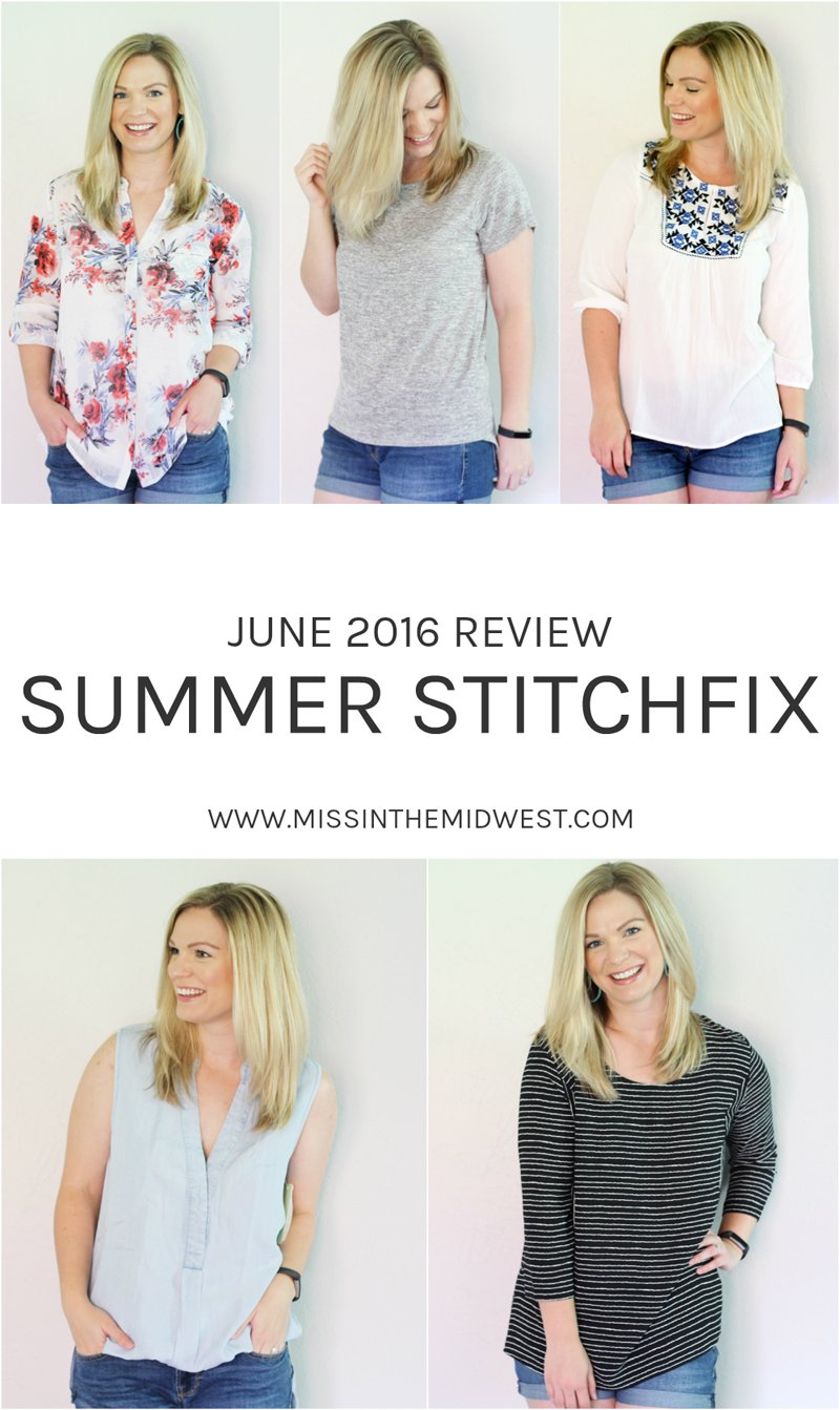 Summer Stitch Fix June 2016 Review
