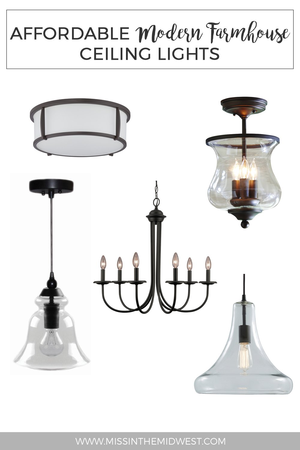 Affordable modern farmhouse ceiling lights from lowes what karly said aloadofball Images