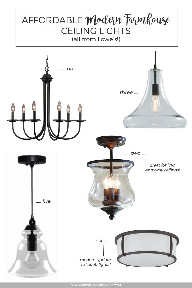 Affordable Modern Farmhouse Ceiling Lights from Lowe's