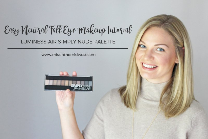 Easy Neutral Fall Eye Makeup Tutorial