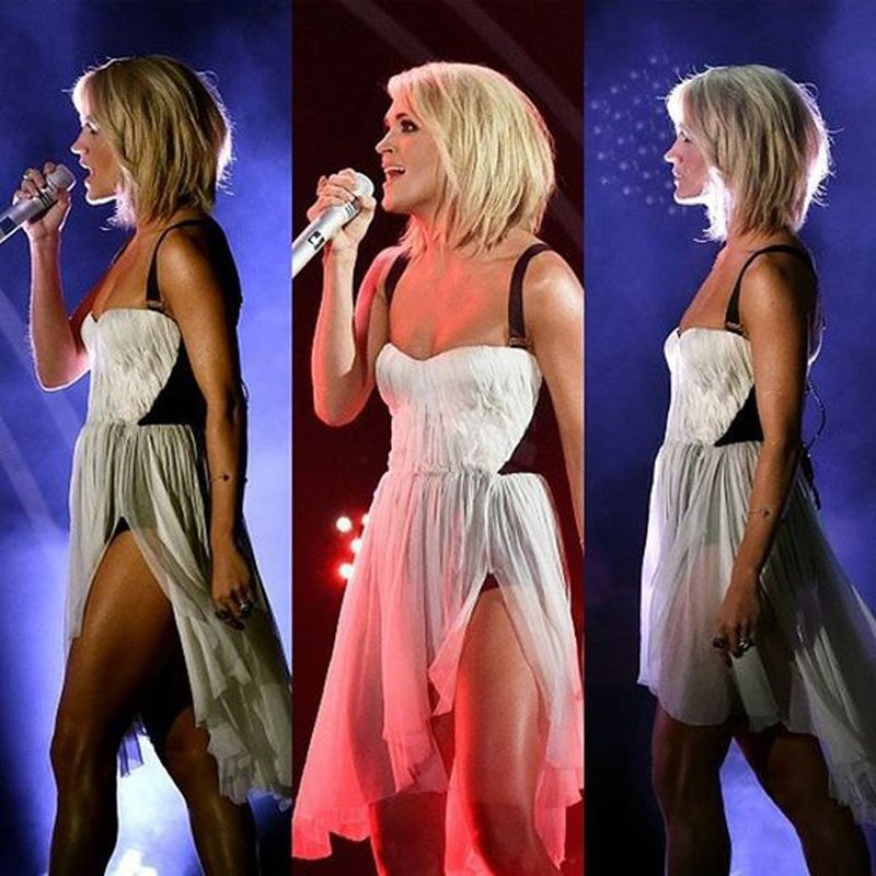 Currently October 2016 Carrie Underwood Short Haircut