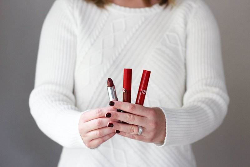 Fall Beauty Favorites Red and Burgundy Lip Products