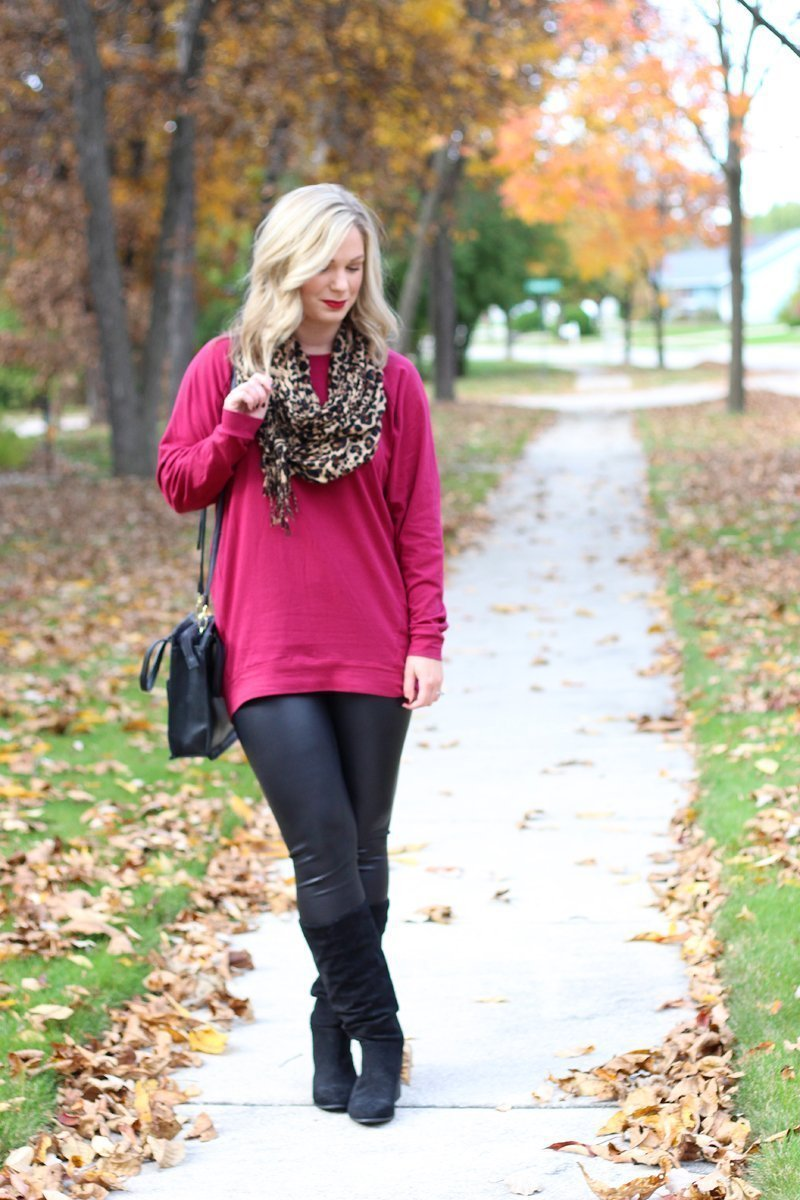 One Slouchy Tunic Worn Two Ways Mint Julep Boutique Wine Slouchy Dolman Tunic