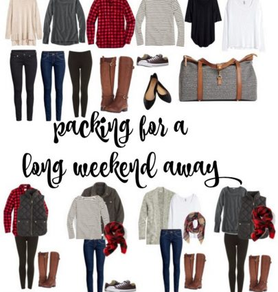 How to Pack for a Long Weekend Away