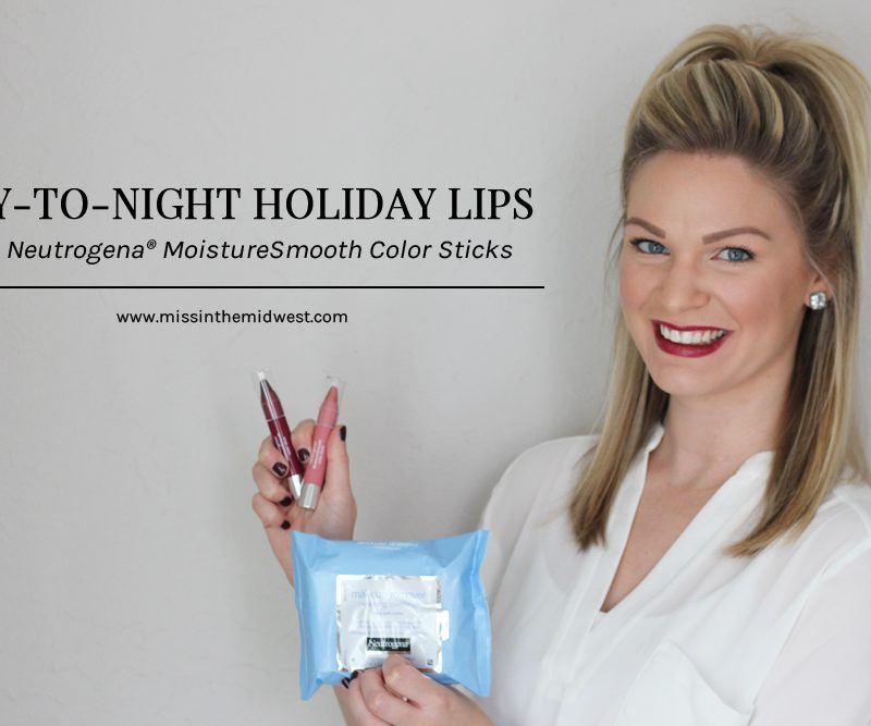 Day-to-Night Holiday Lips feat. Neutrogena MoistureSmooth Color Sticks