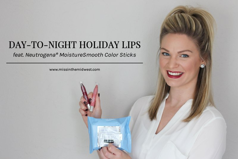 Day-to-Night Holiday Lips with Neutrogena