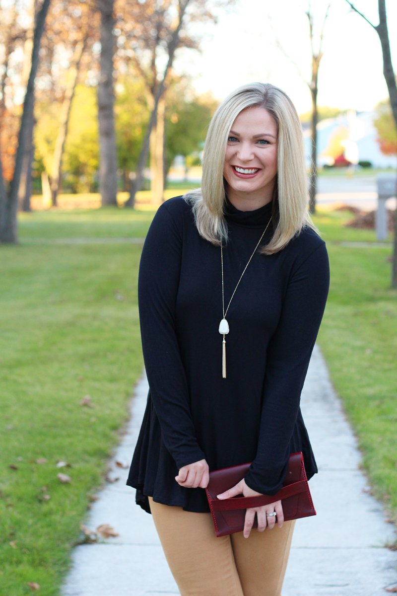 Fall Date Night black turtleneck