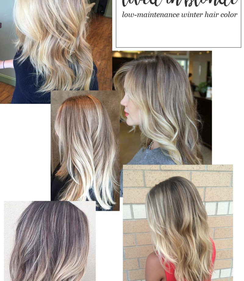 Lived-In Blonde Hair Color for Winter Somebre Blonde Hair Color Collage