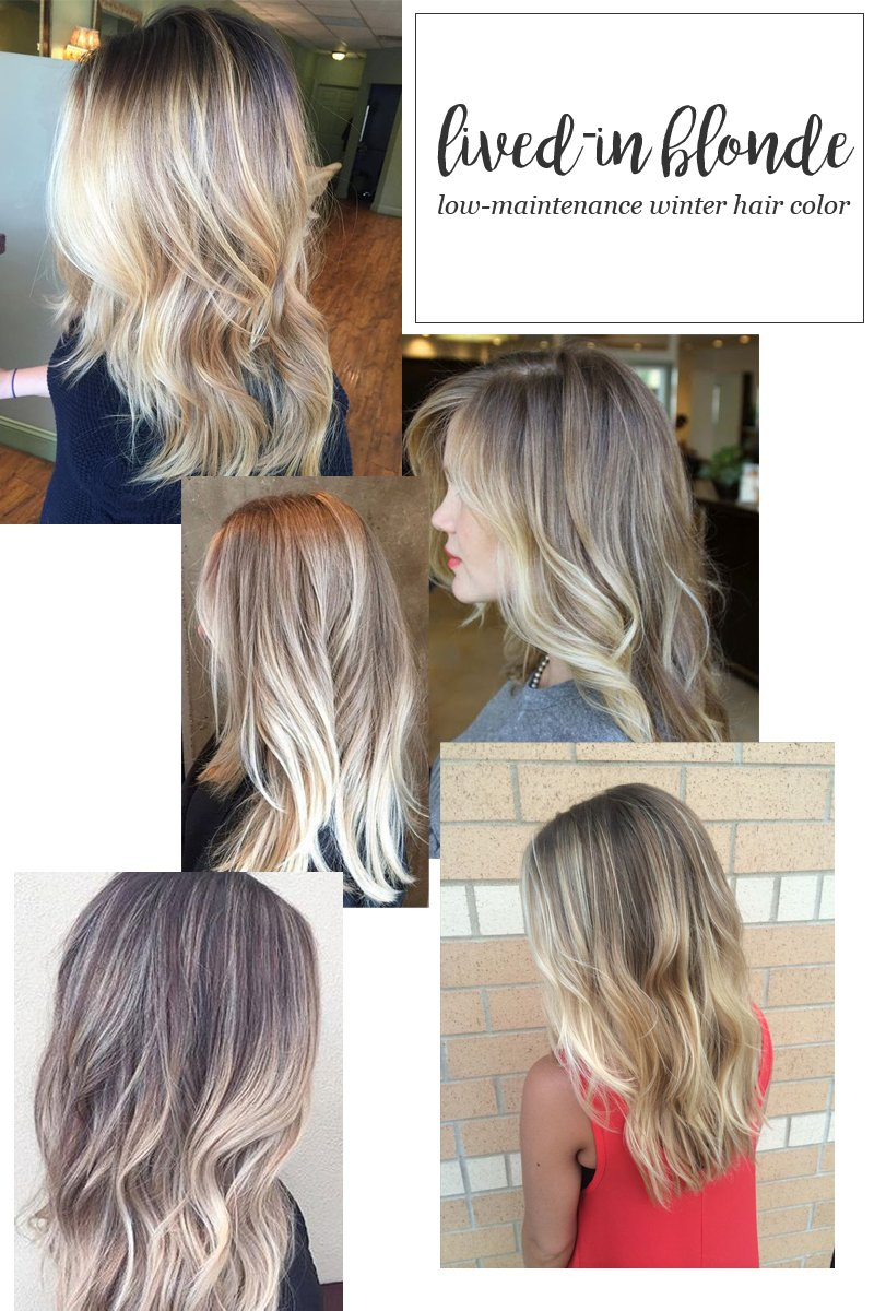 Lived-In Blonde Hair Color for Winter