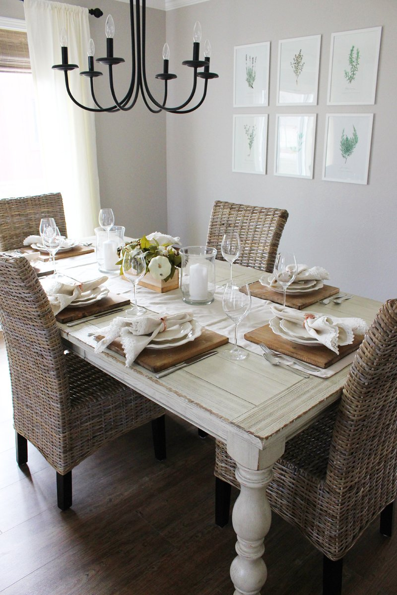 Our Modern Farmhouse Dining Room & Neutral Thanksgiving Table