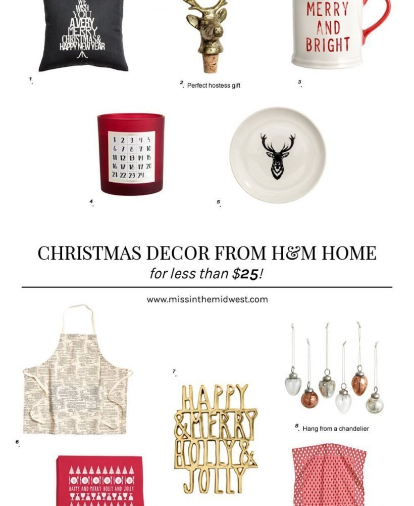 Christmas Decor from H&M Home for Less than $25