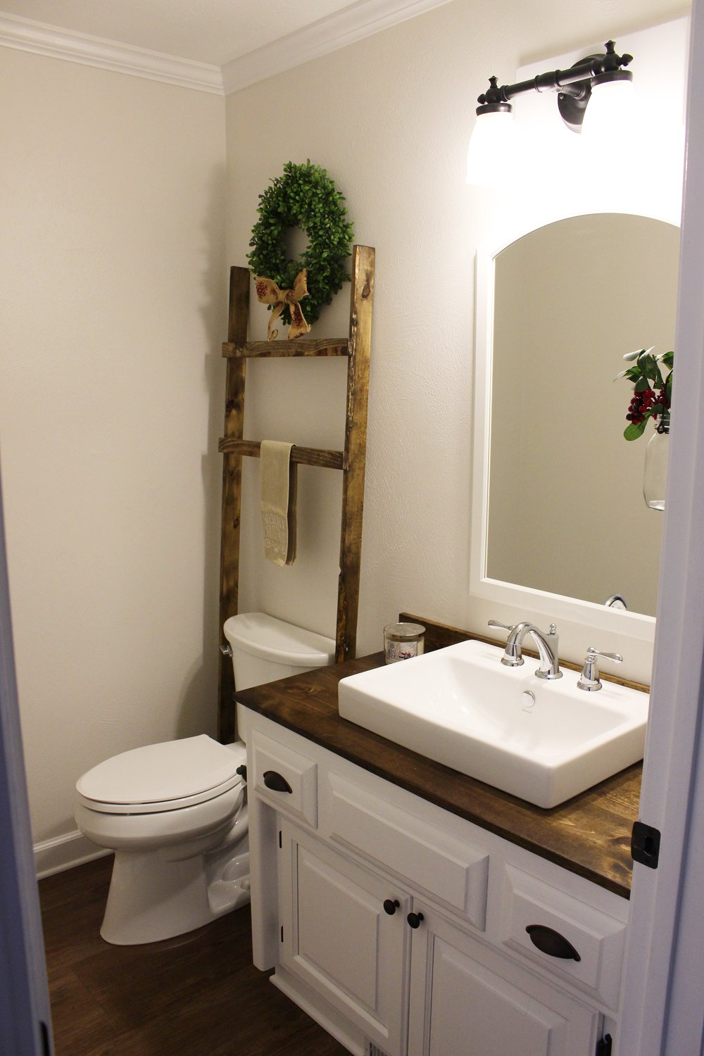 Budget-Friendly Modern Farmhouse Half Bathroom Renovation ...