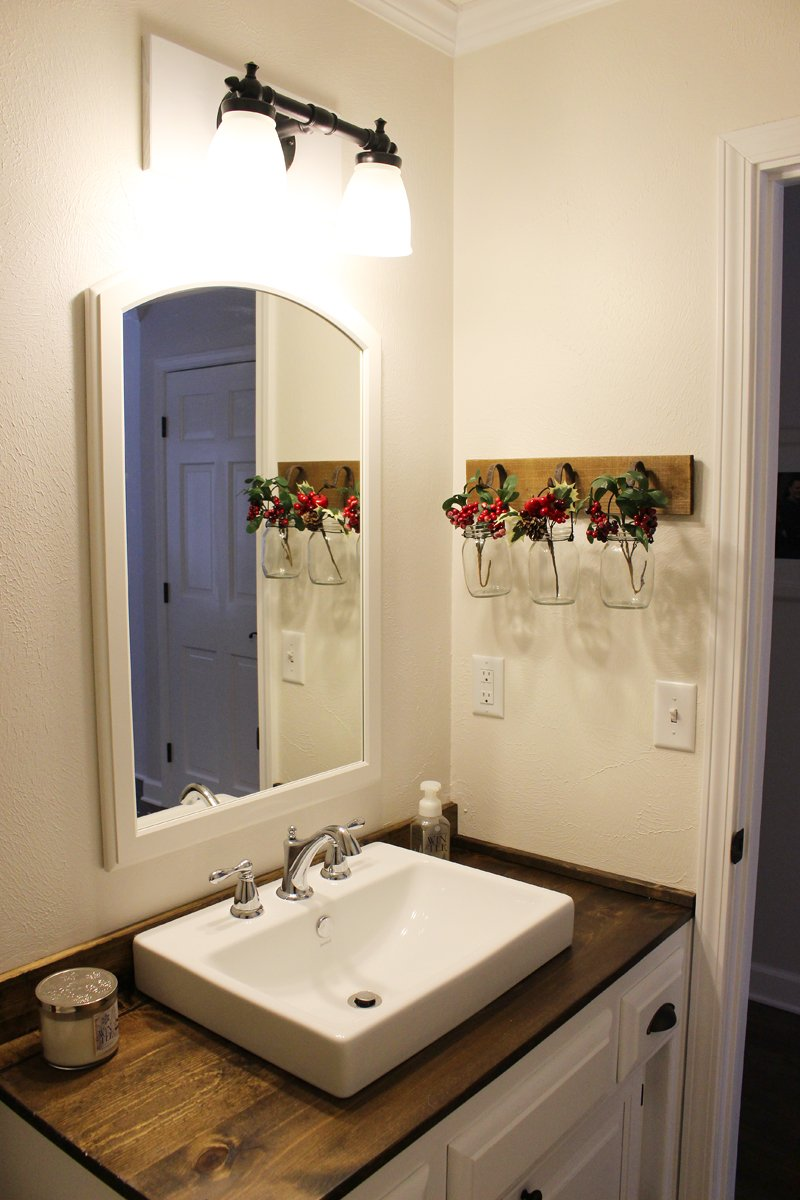 Budget-Friendly Modern Farmhouse Half Bathroom Renovation