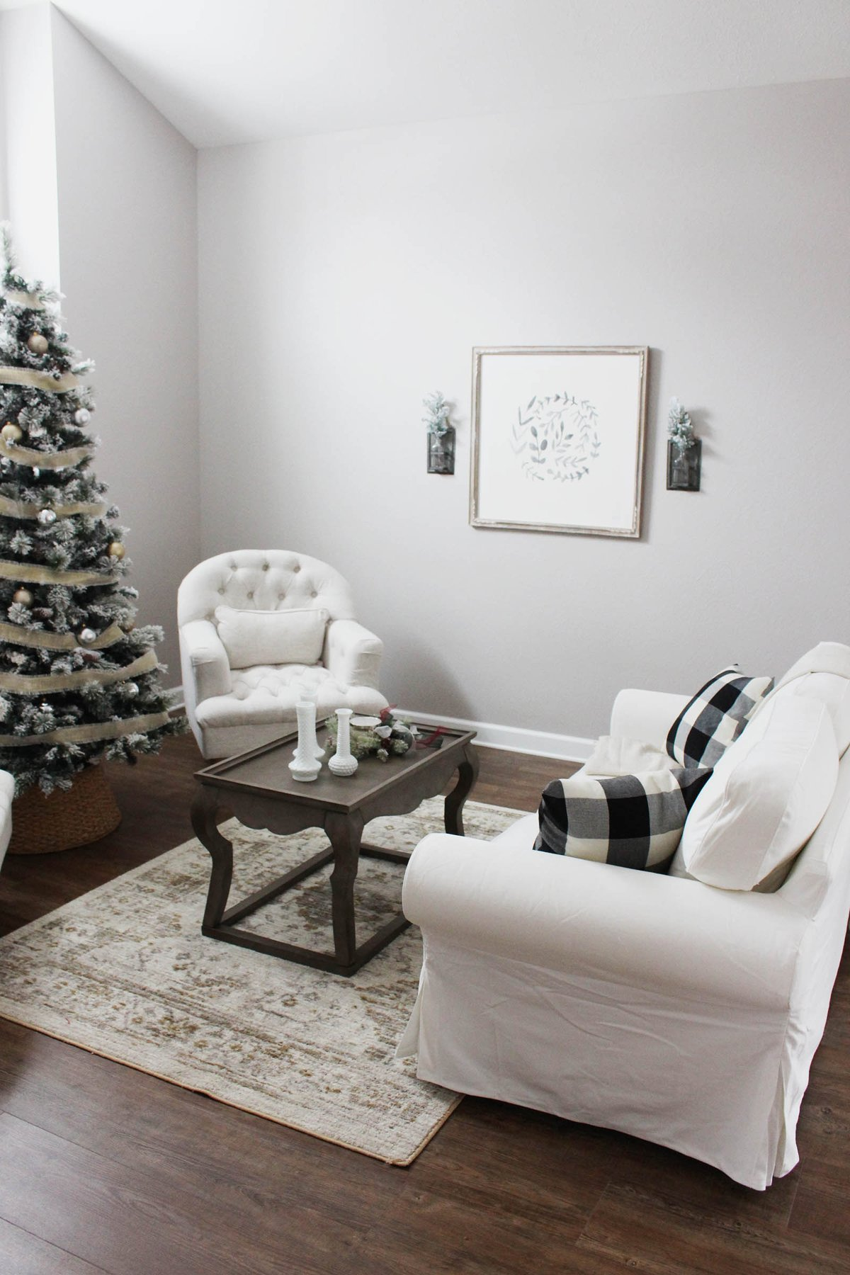 Our Neutral Christmas Sitting Room