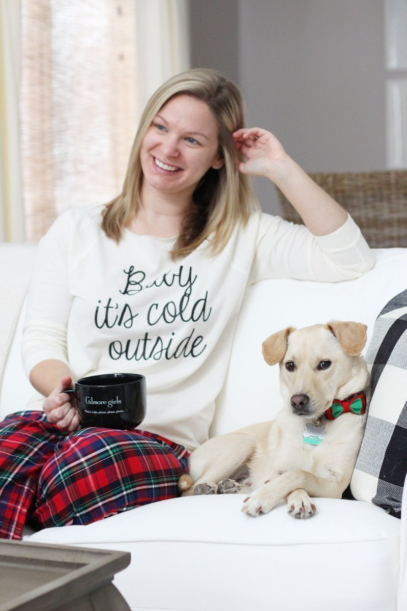 My 3 Favorite Ways to Spend a Snow Day - Baby It's Cold Outside sweatshirt