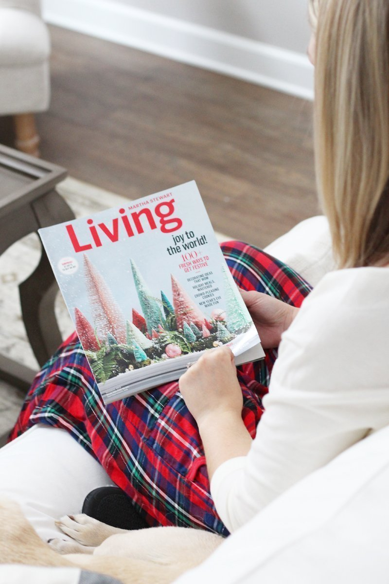 girl reading Martha Stewart Living December 2016