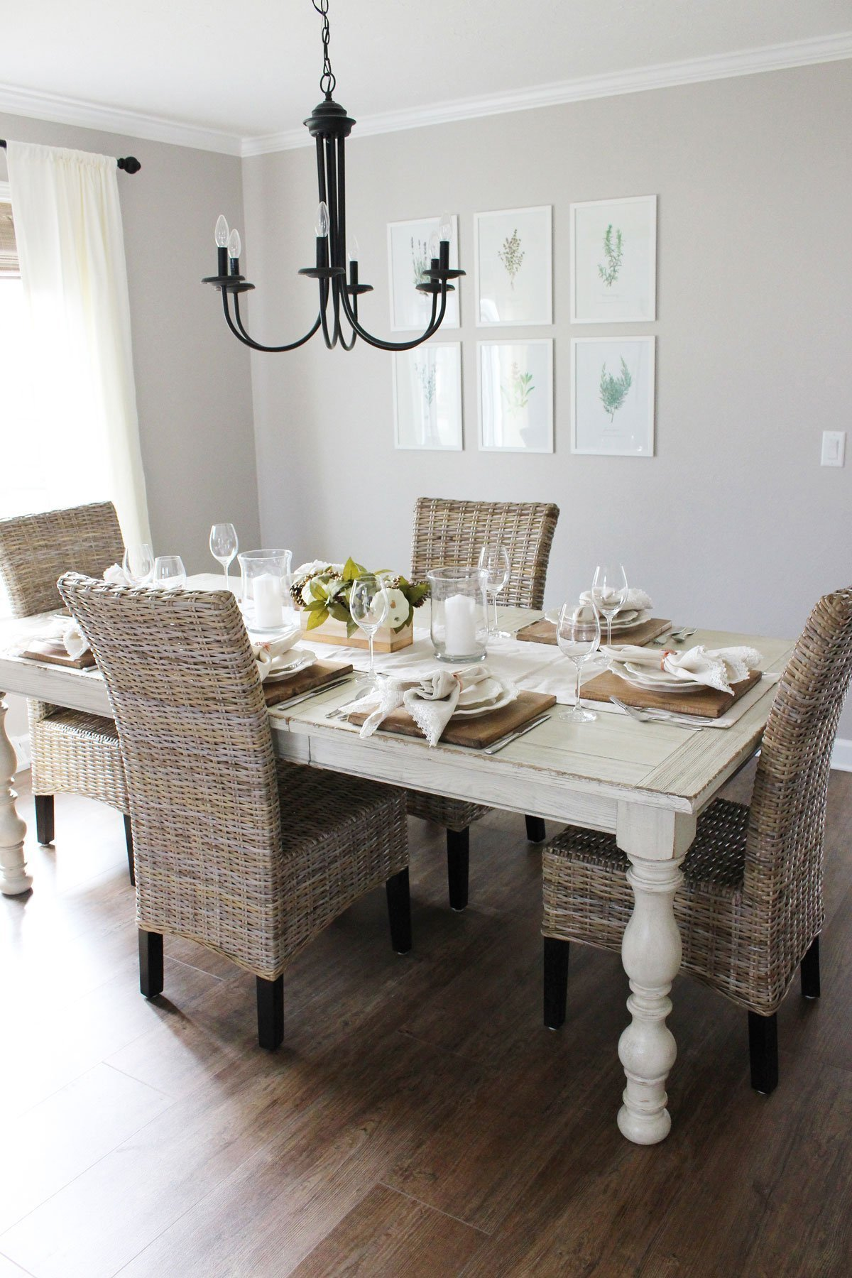 Modern Farmhouse Neutral Dining Room