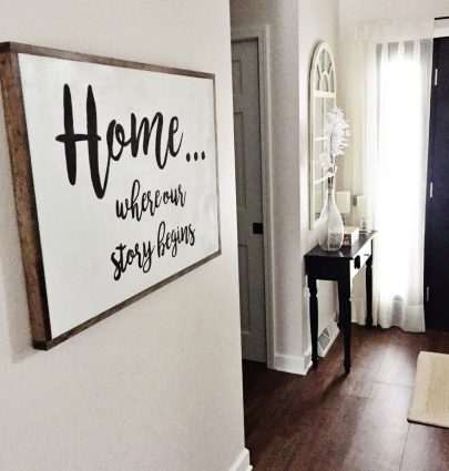 My 3 Favorite Blogs for Farmhouse Decor Inspiration - Home Where Our Story Begins DIY Wood Sign