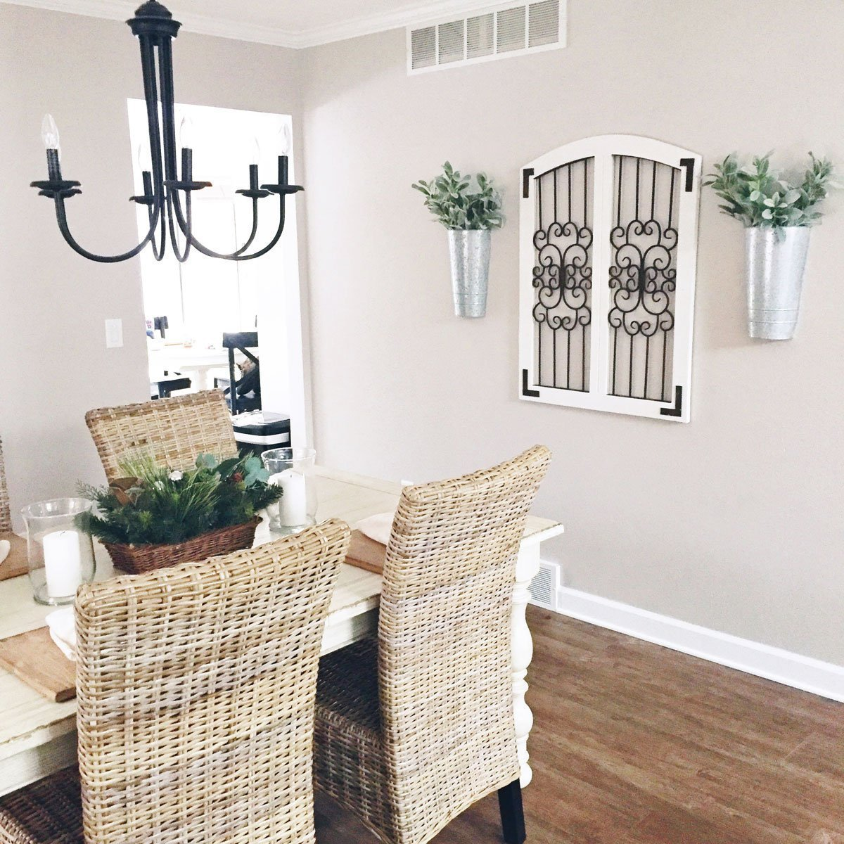 5 Home Projects We Hope to Accomplish in 2017 neutral farmhouse dining room decor