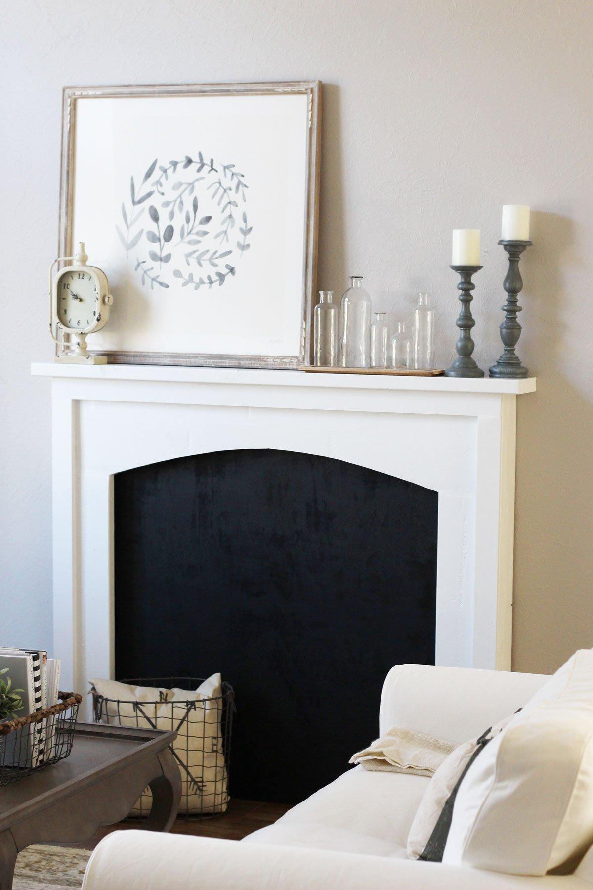 DIY Faux Fireplace Reveal