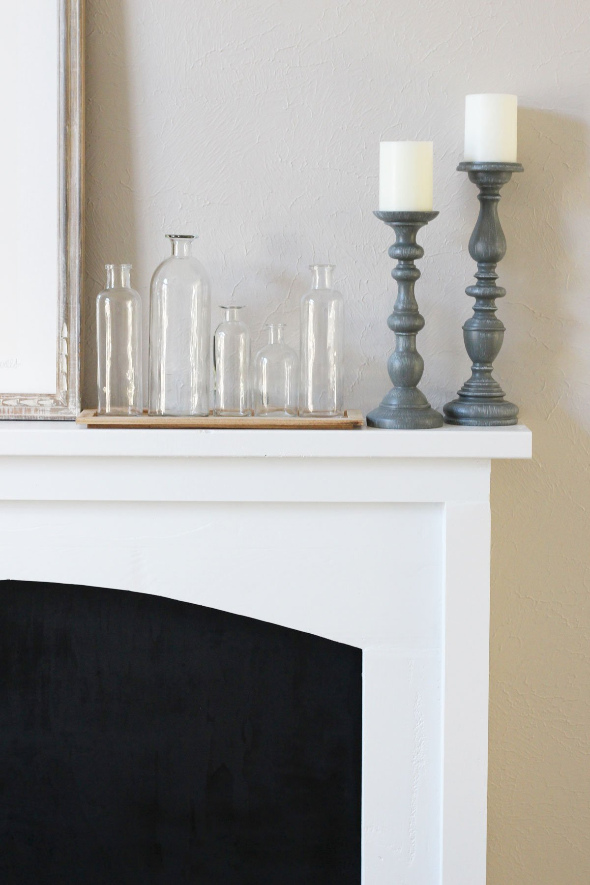 DIY Faux Fireplace Reveal Farmhouse Mantel Details