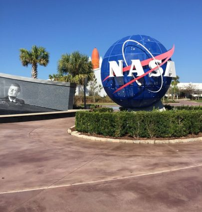 A Day at Kennedy Space Center entrance