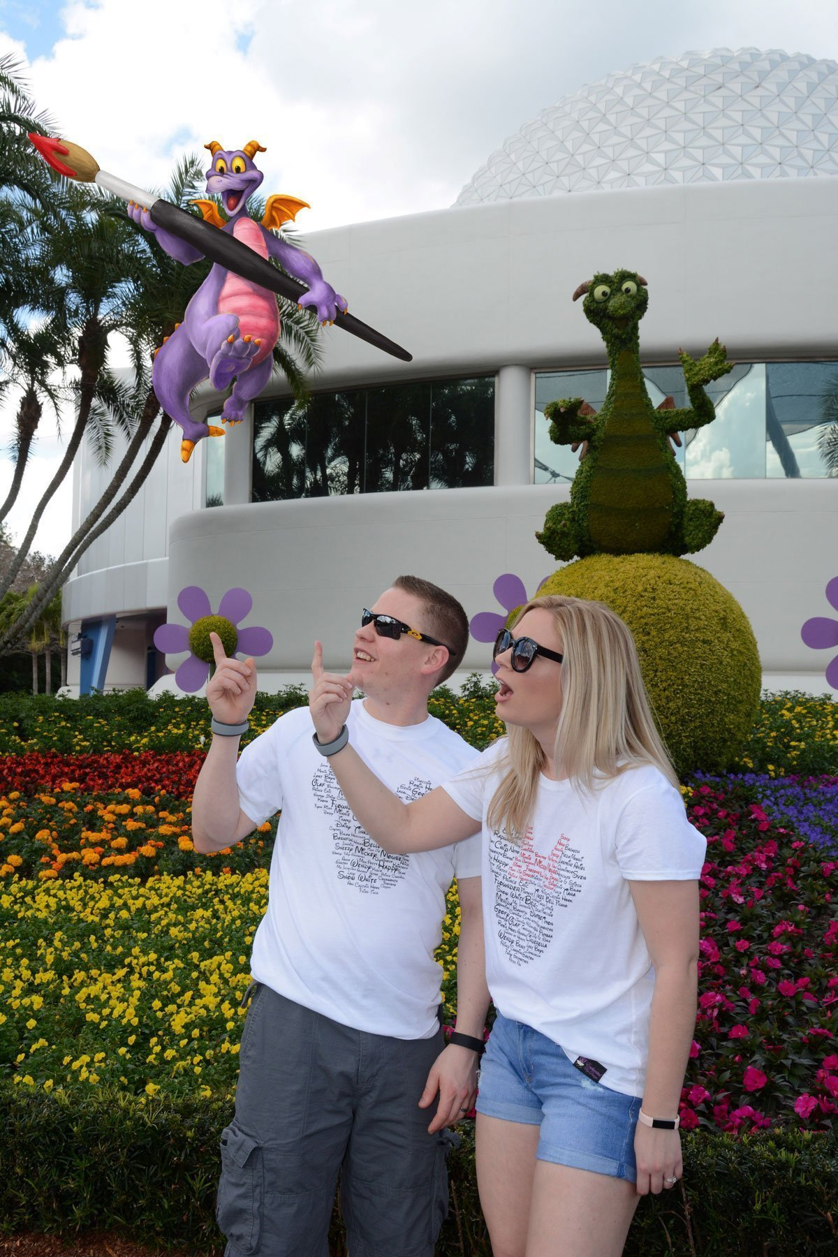 EPCOT flower display MemoryMaker magic