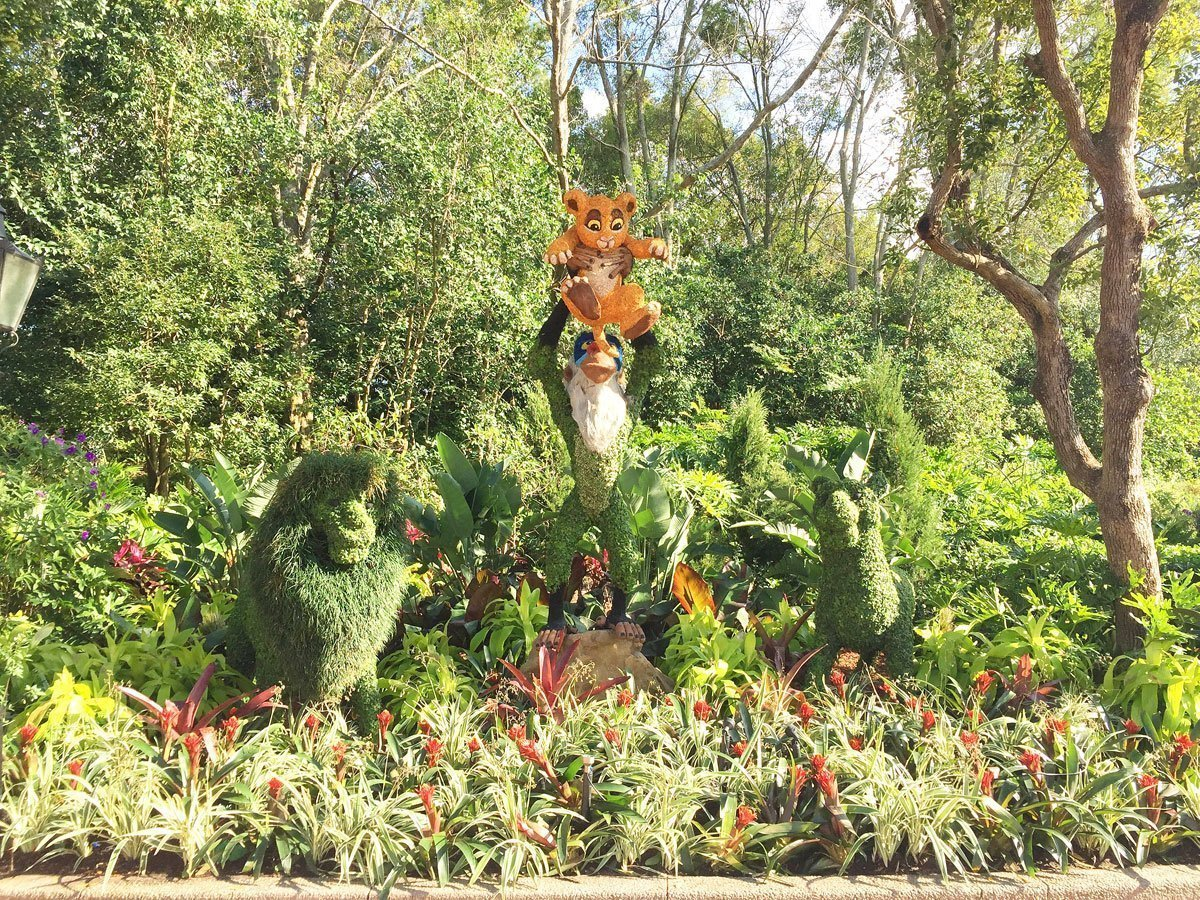 EPCOT World Showcase Lion King flower display