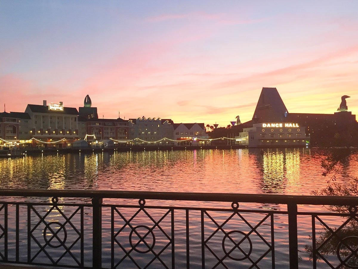Disney The Boardwalk Resort at Sunset