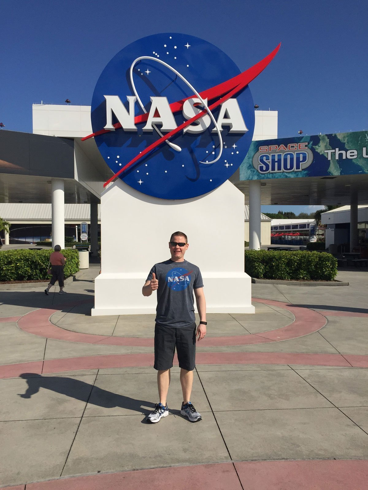 NASA sign at Kennedy Space Center