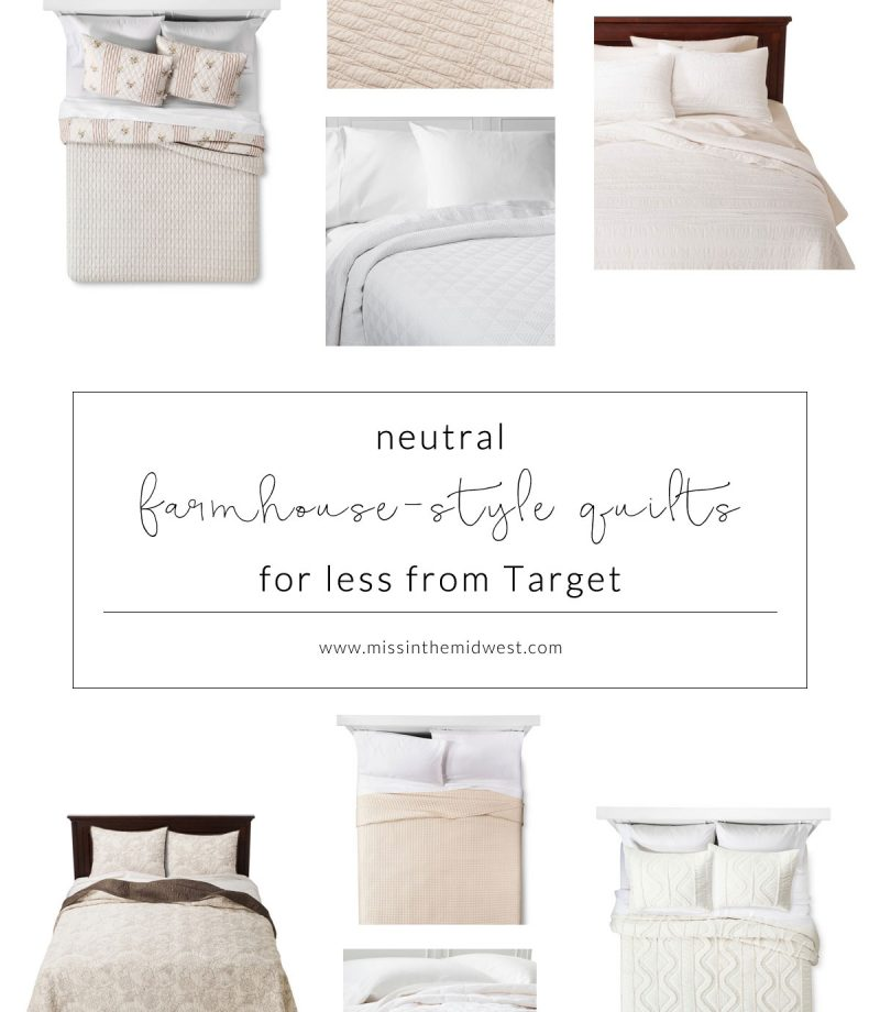 8 Neutral Farmhouse-Style Quilts for Less from Target