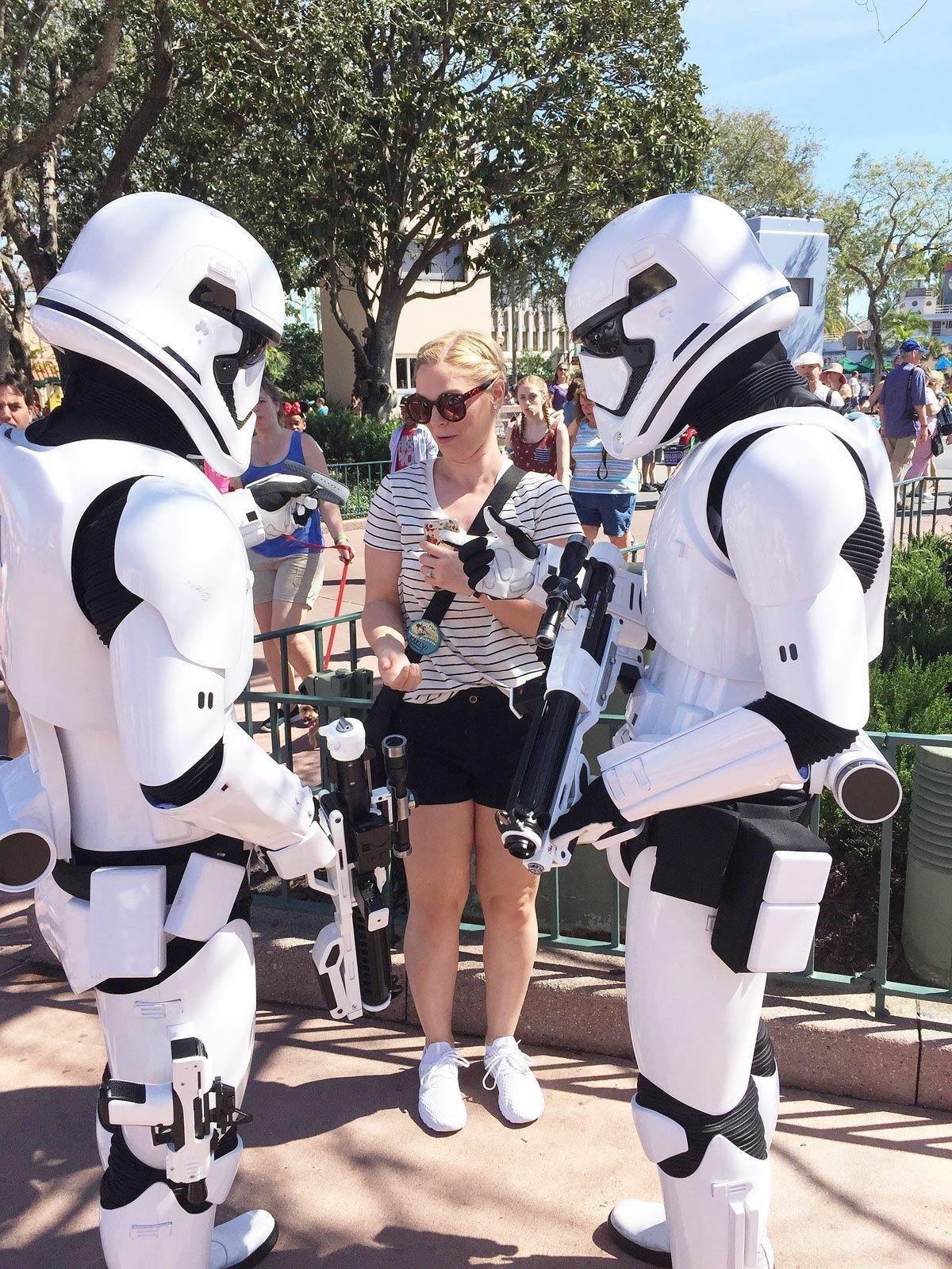 Storm Troopers Attack at Star Wars Bay Disney Hollywood Studios