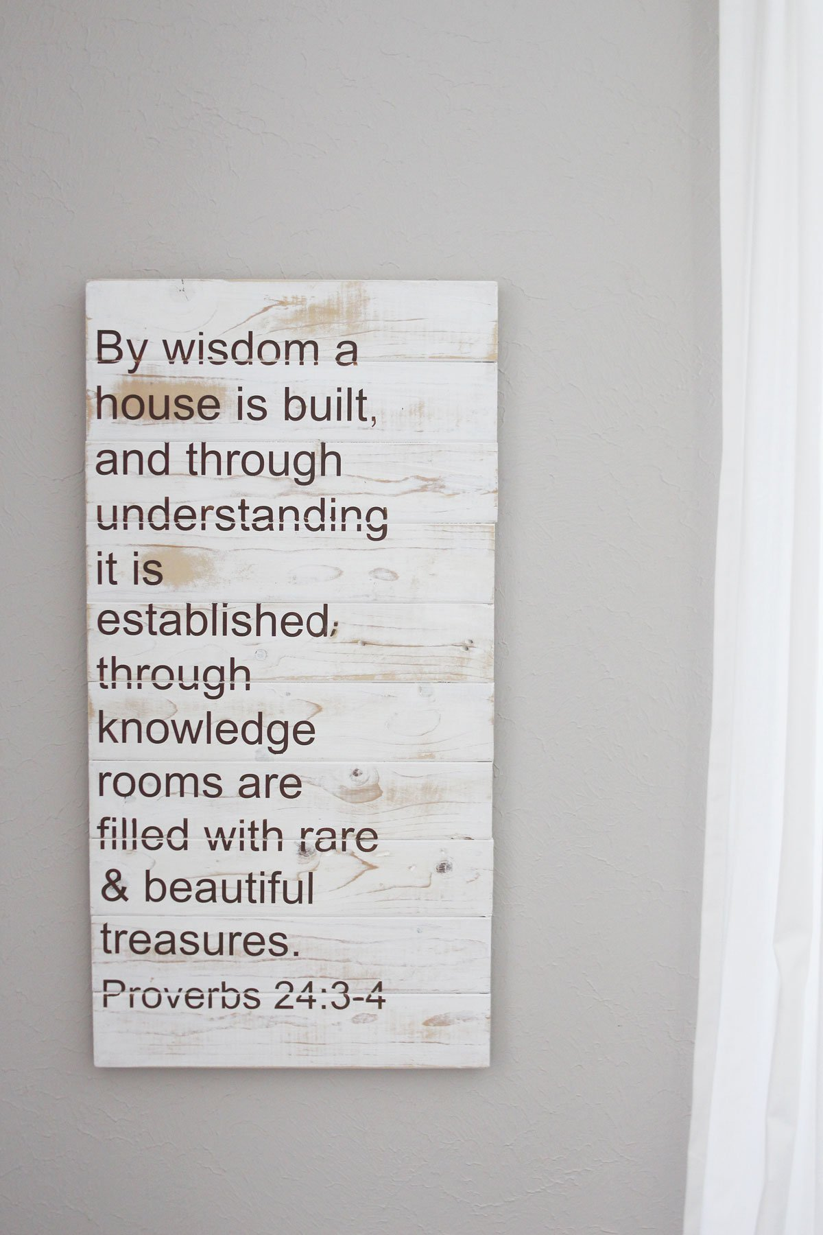 Home Bible verse palette sign