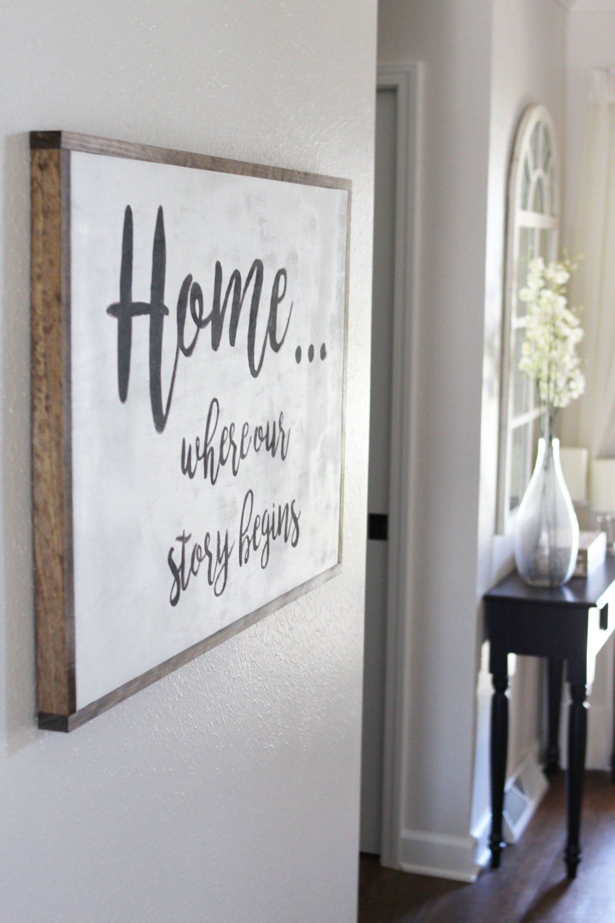 Home Where Our Story Begins DIY wood sign