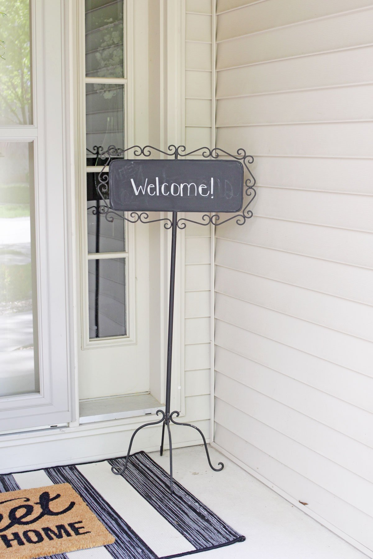 front porch chalkboard sign