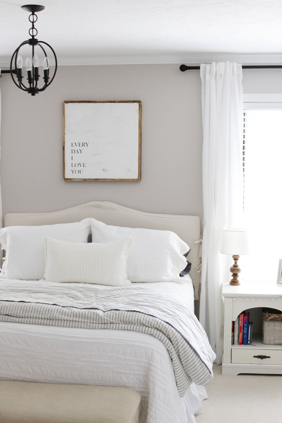 Modern Farmhouse Master Bedroom Reveal entryway