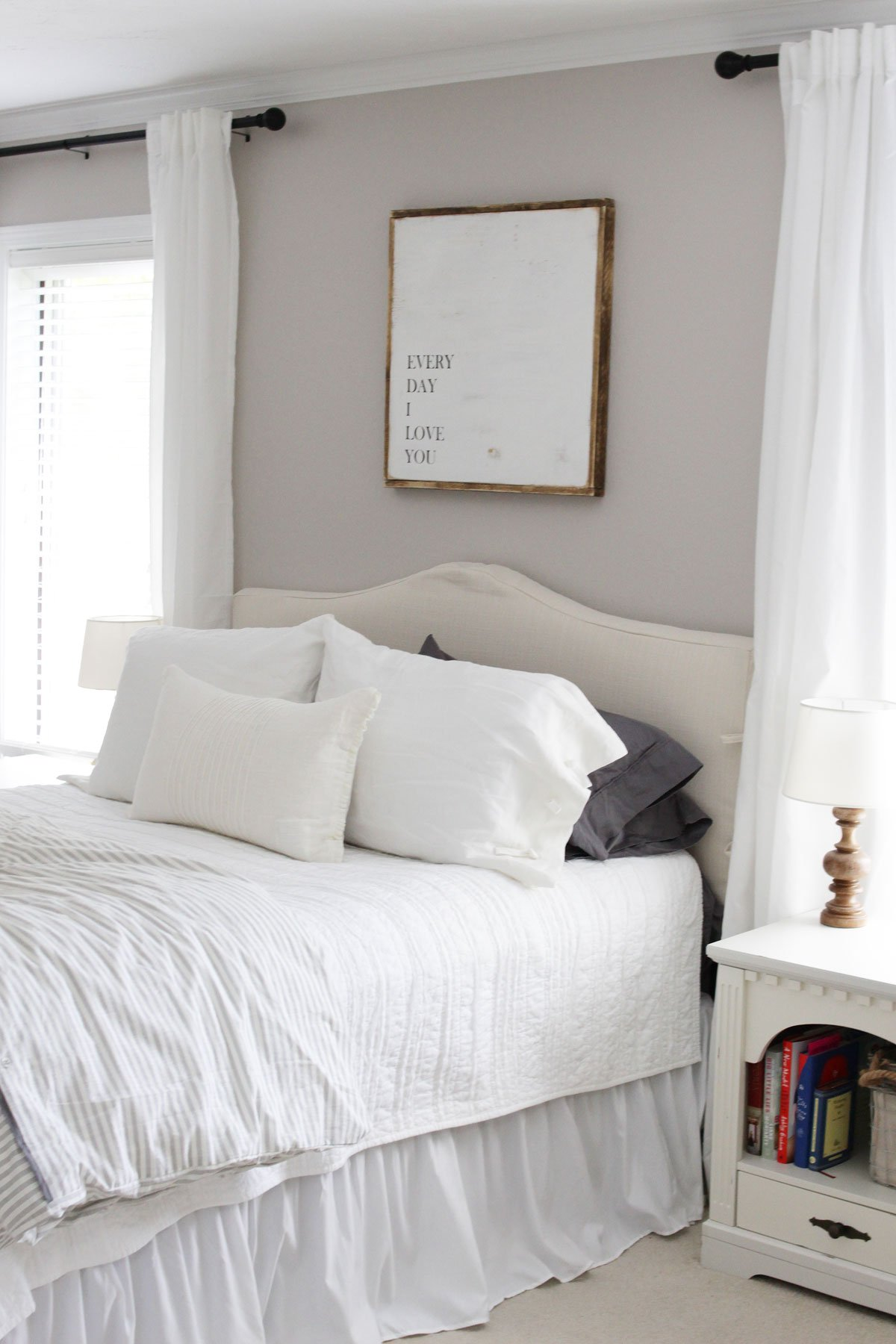 Slipcover headboard from Birch Lane