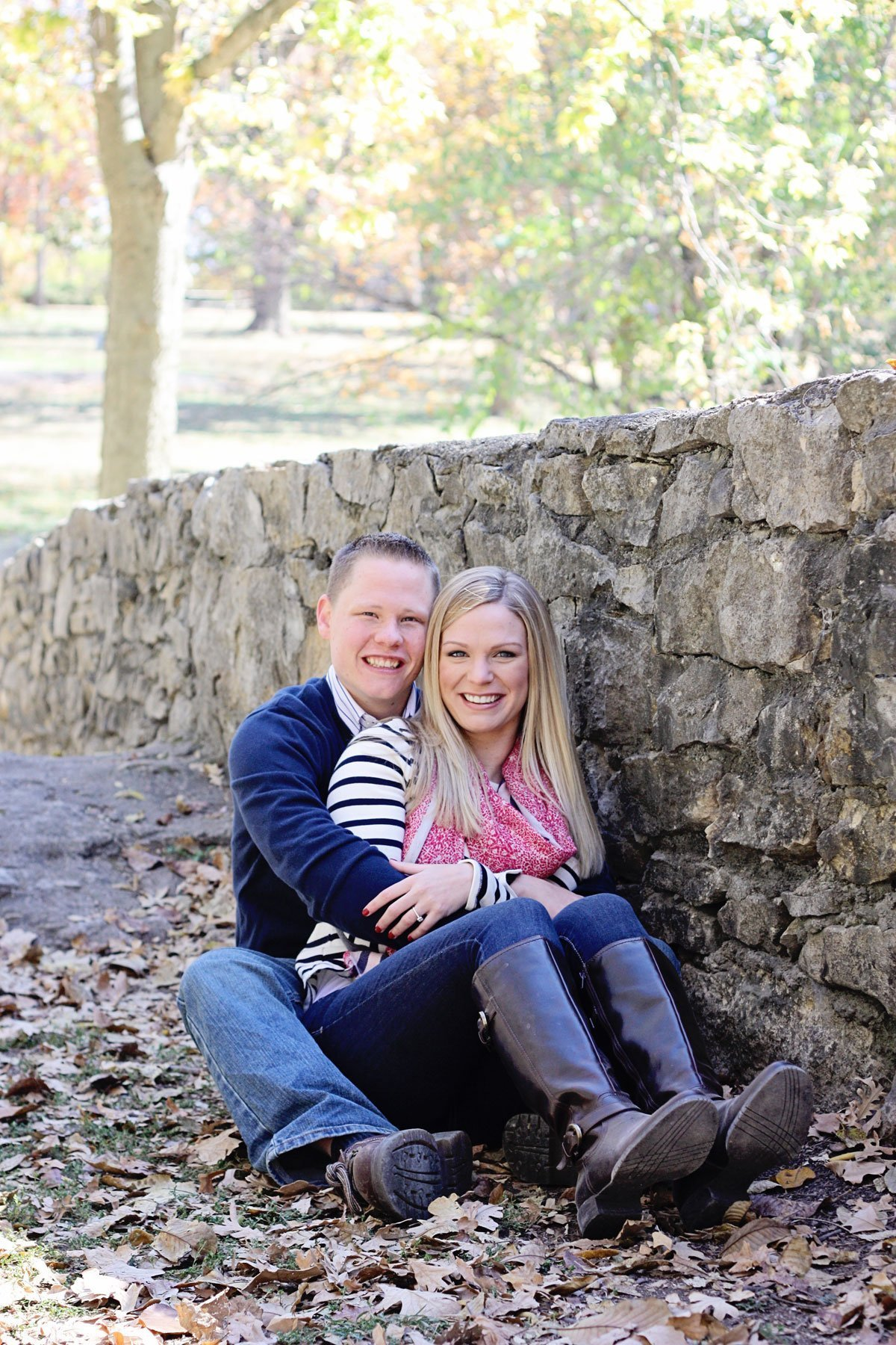 fall engagement photos Madison County, Iowa
