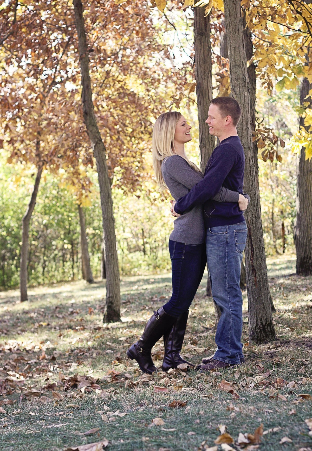 Our Engagement Story fall engagement photos