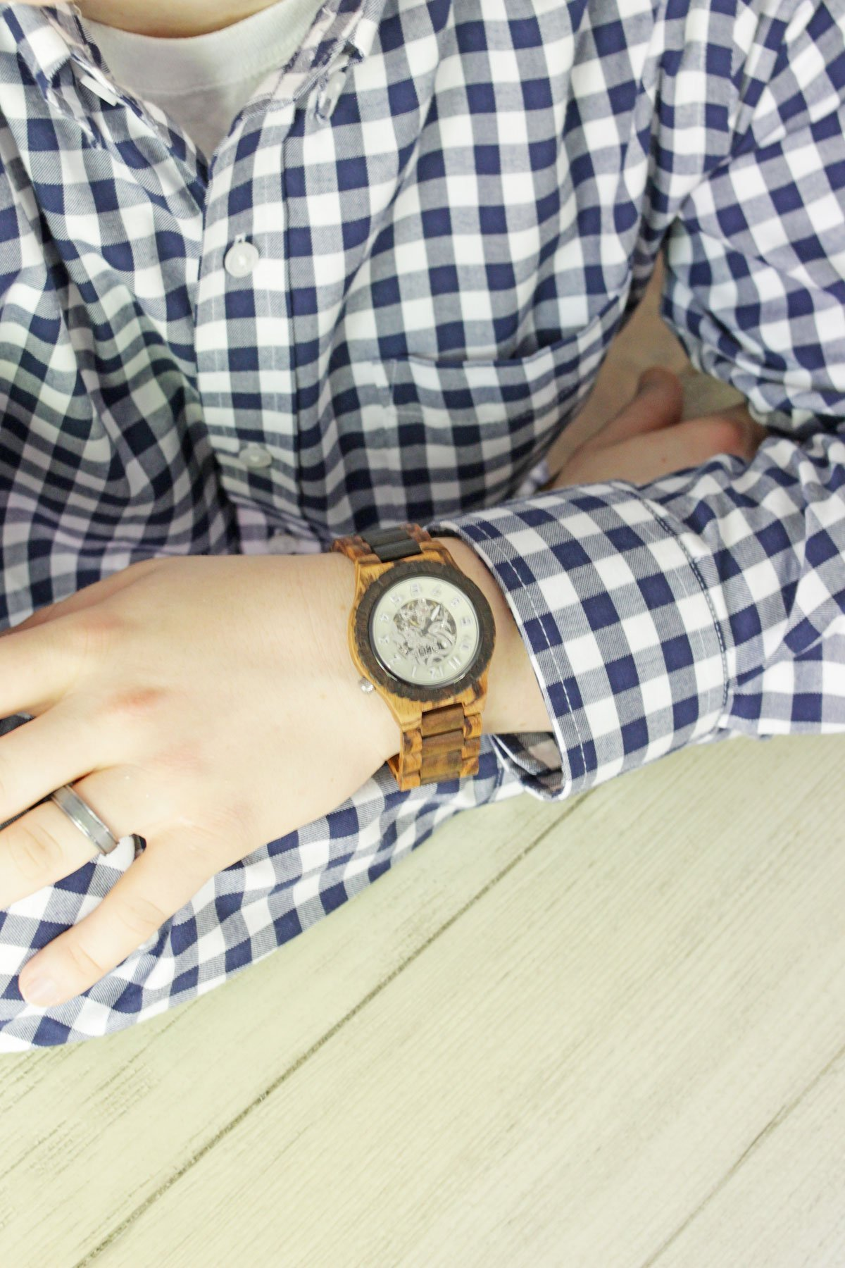 Celebrate Father's Day with JORD - JORD Dover Series Zebrawood & Dark Sandalwood watch