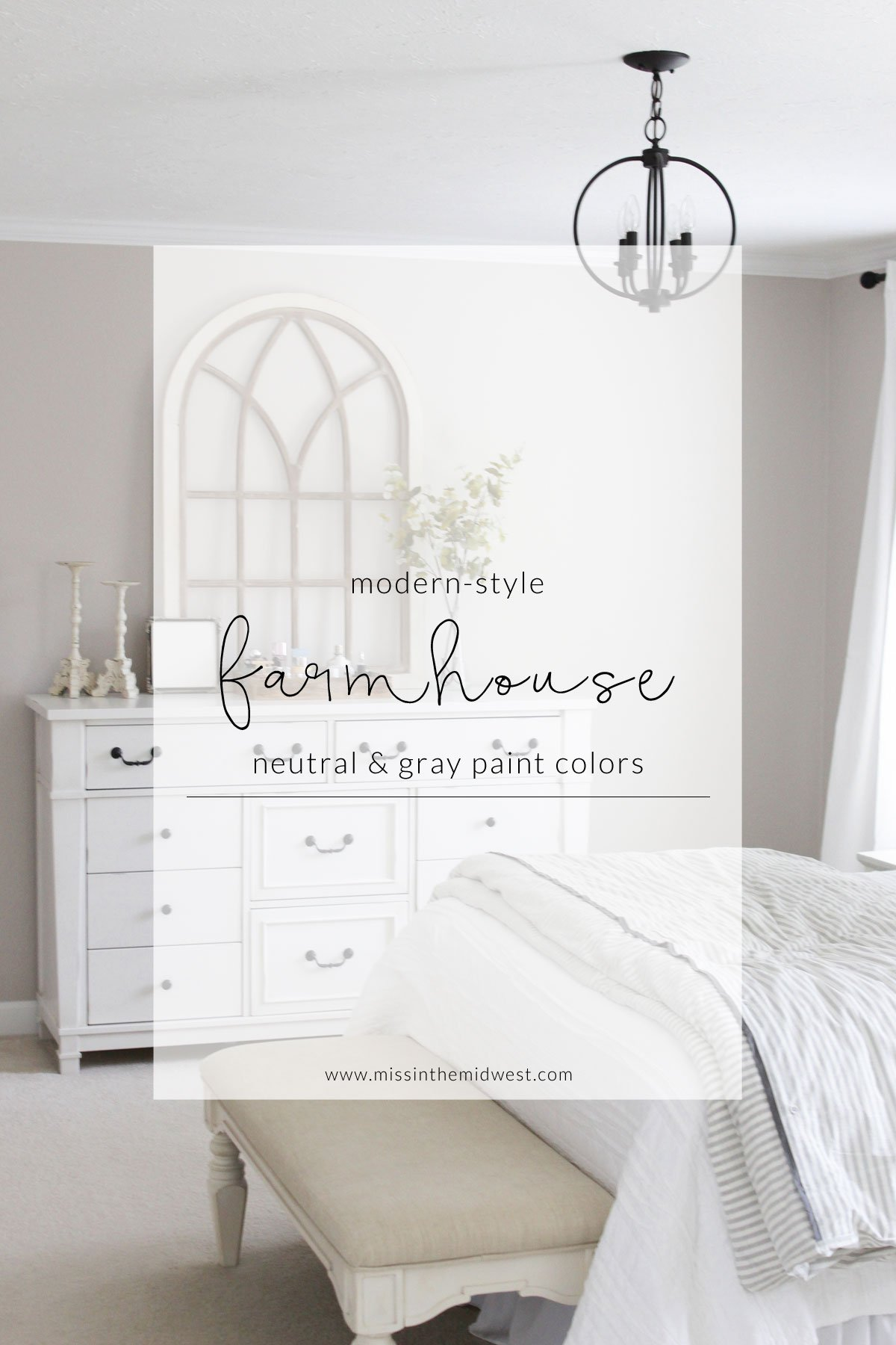 Paint Colors in Our Modern-Style Farmhouse