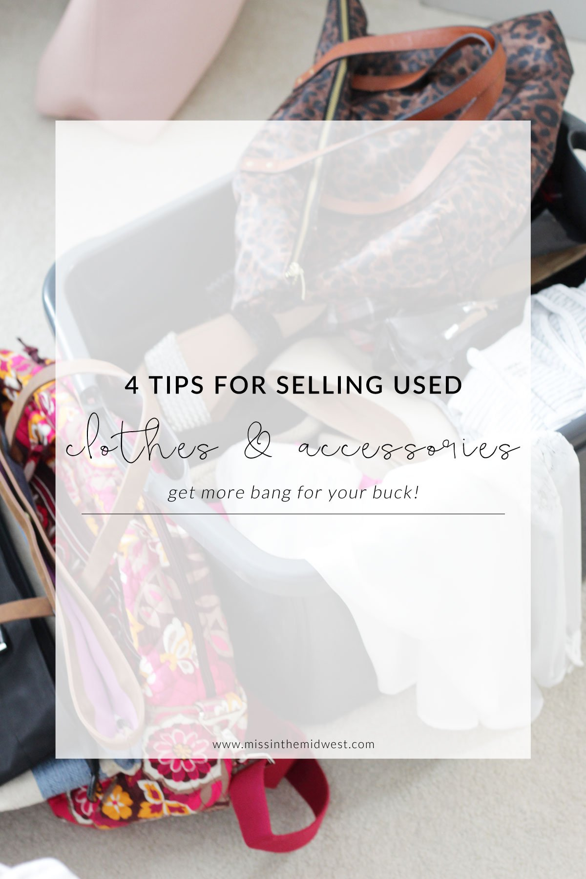 4 Tips For Selling Used Clothes and Accessories