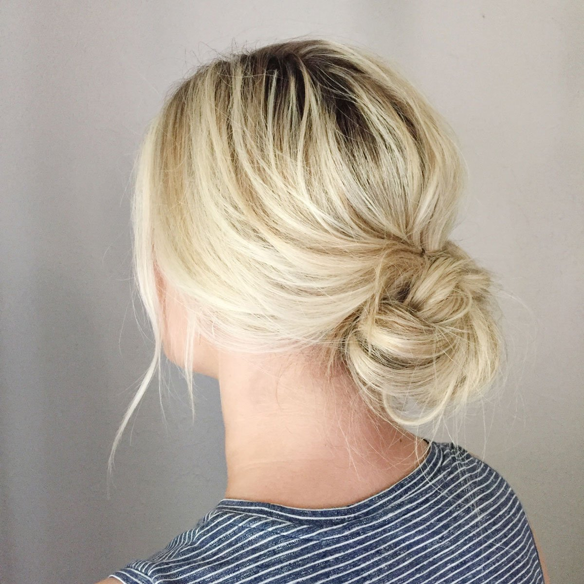 Low messy fun bun
