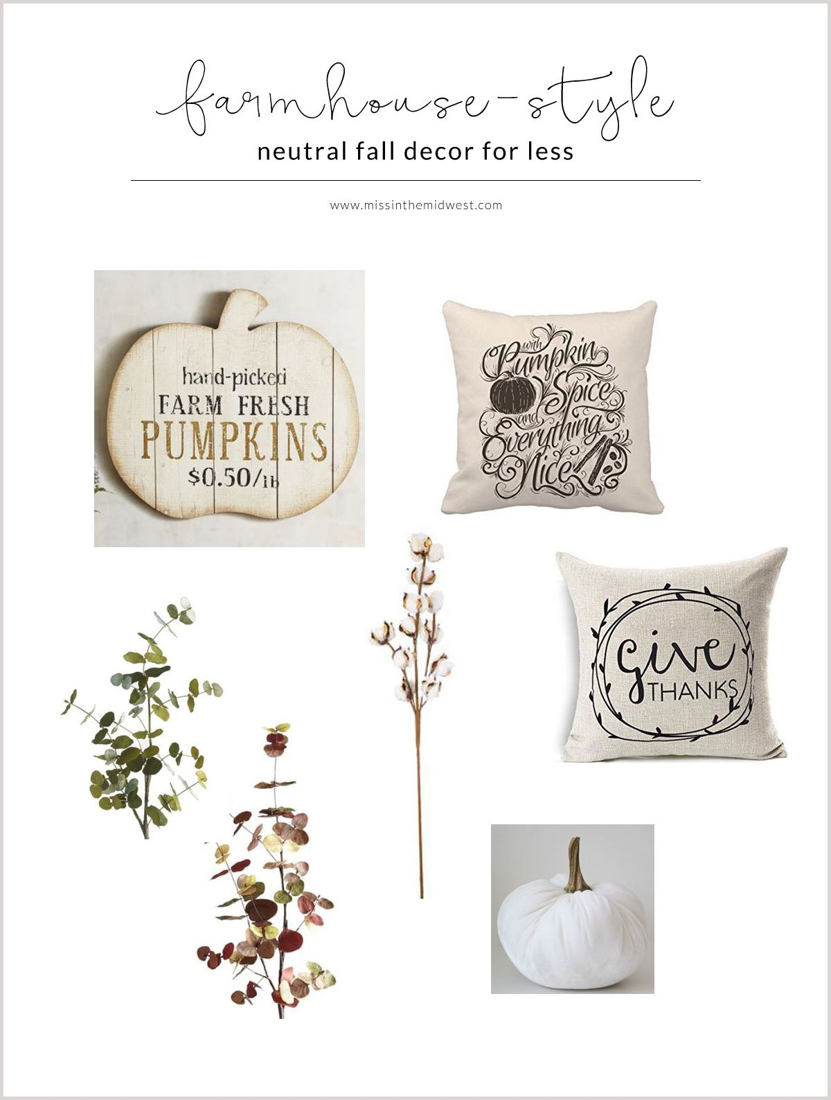 Neutral Farmhouse-Style Fall Decor for Less