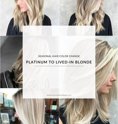 Seasonal Hair Color Change: Platinum to Lived-In Blonde