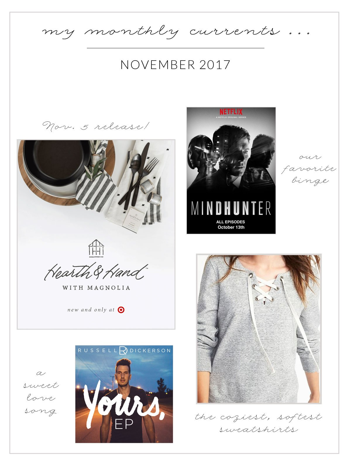 My Monthly Currents for November 2017
